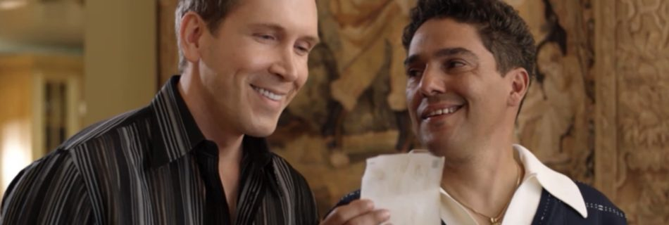 Dwight Turner as Theophelies and Nicholas Turturro as Gianni de Carlo in The Deported