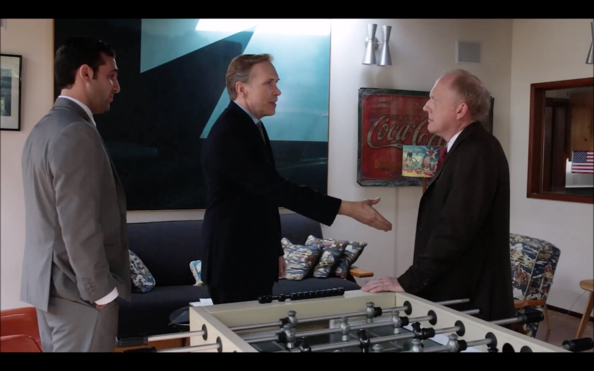 Gerard Salim as Dick Cheney, Dwight Turner as Stuart Spencer, and Skip Pipo as Gerald Ford in The Spirit of 76