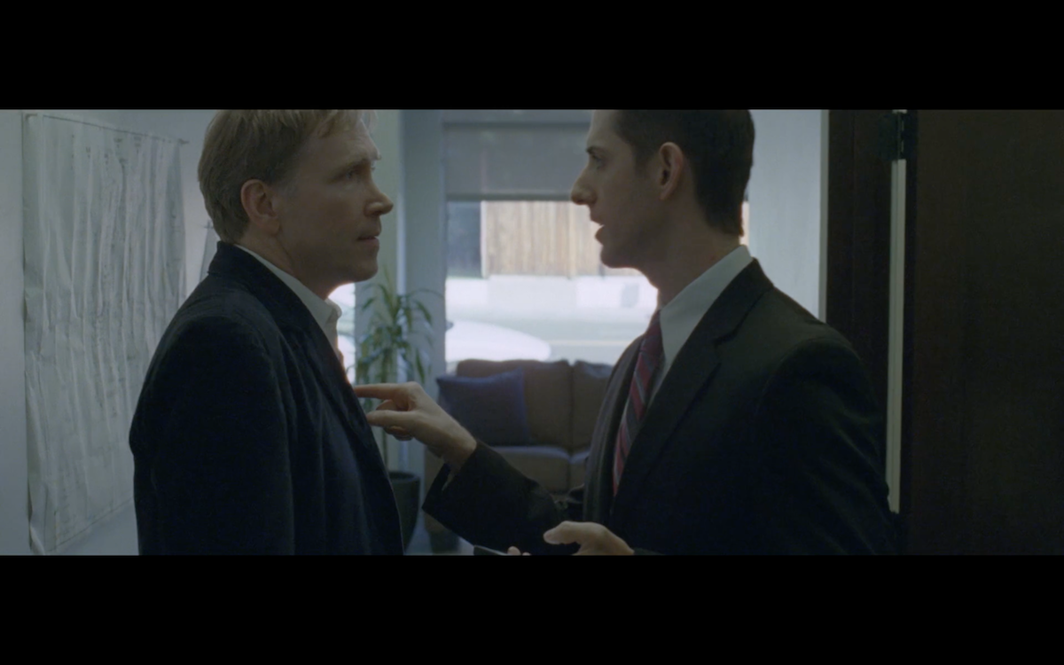 Dwight Turner as Dale and Adam Burch as Mike in Step Motion Step